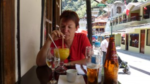 Heike in Aguas Calientes